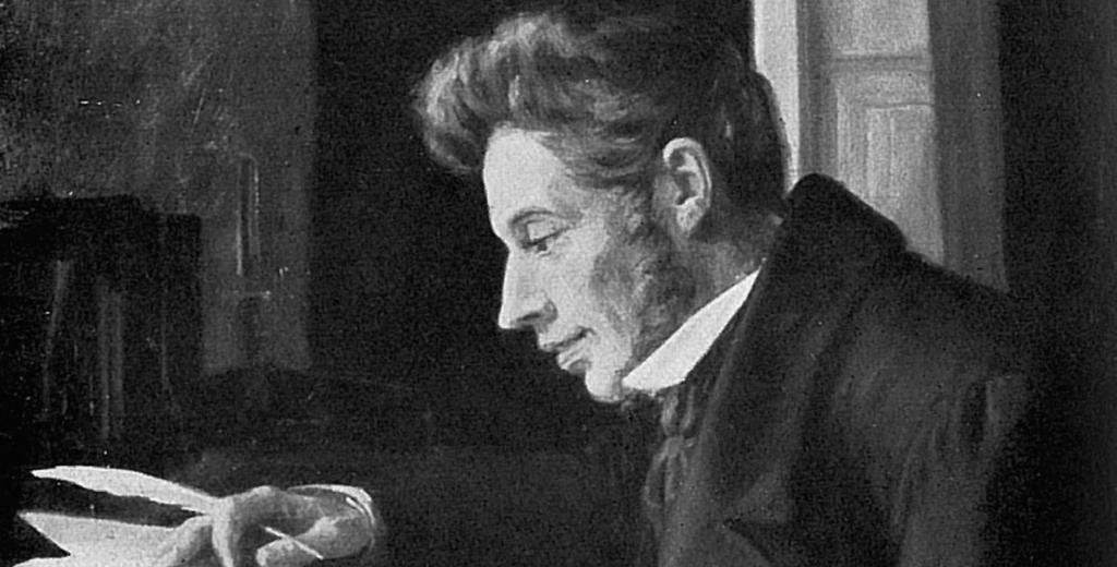Danish philosopher Soren Kierkegaard (1813-1855)
